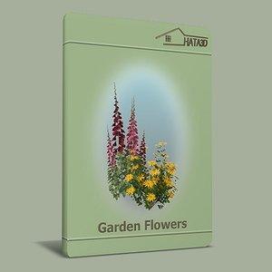 flowers garden 3d 3ds