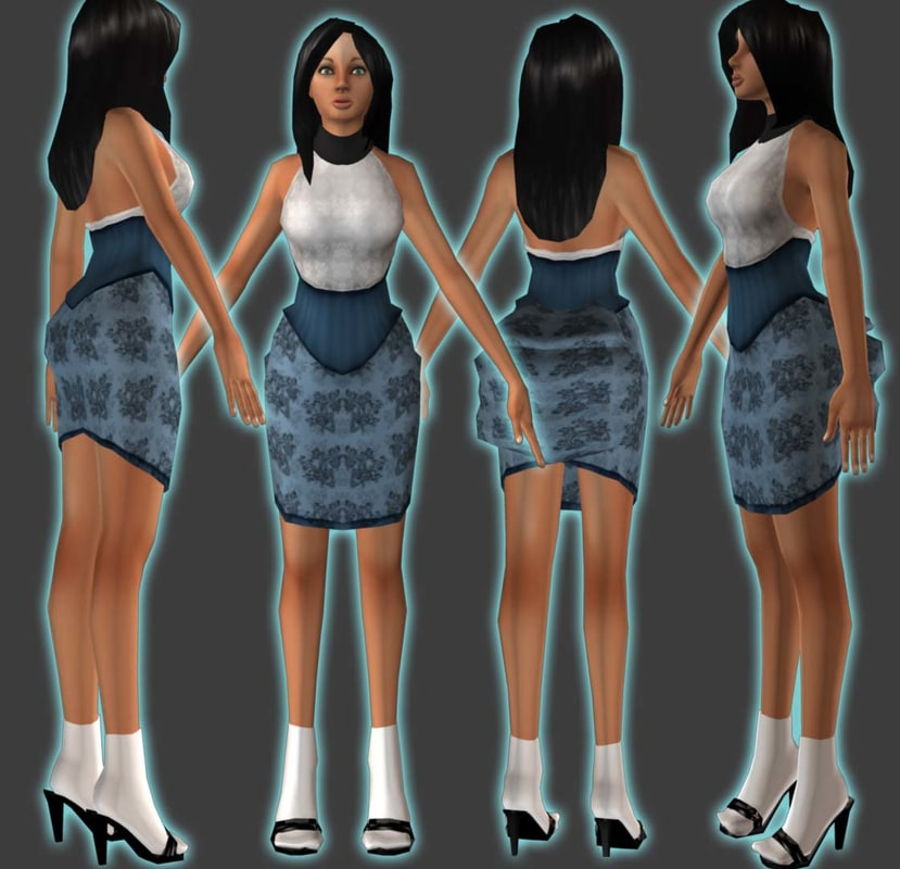 female dress 3d model
