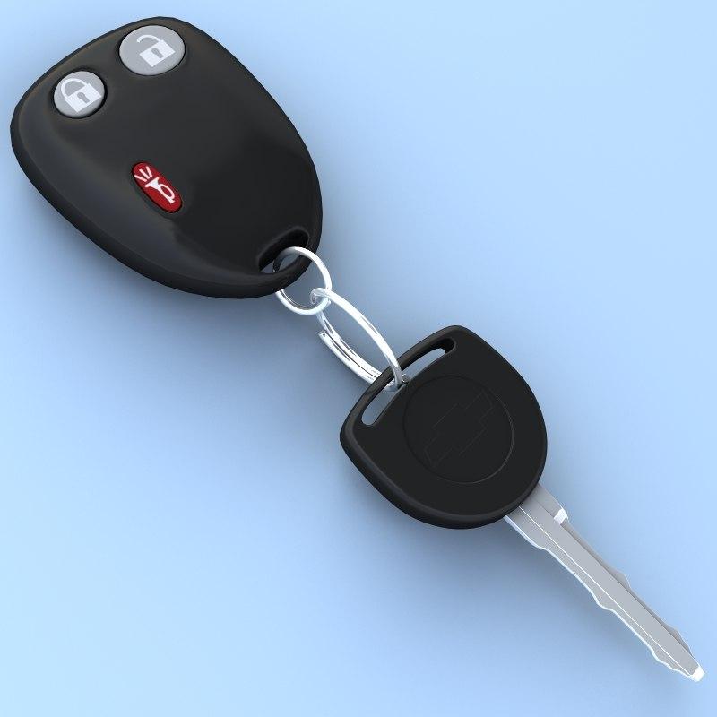 car key remote 3d model
