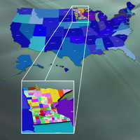3ds max usa counties