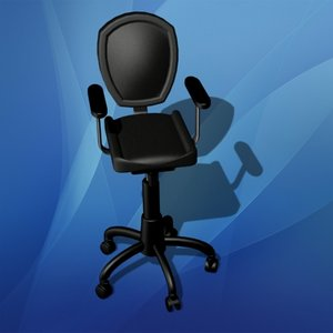 office bench chair 3d model
