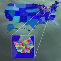 3d model usa counties