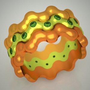 free ring gold jewels 3d model