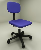 simple office chair 3d max