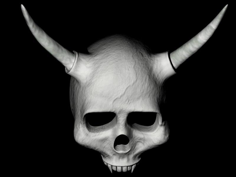 3ds max skull horns