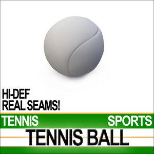 tennis ball sports series 3d model