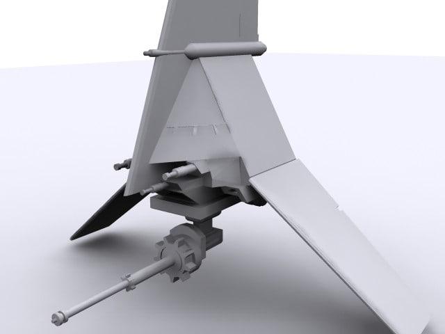 t-16 skyhopper star wars 3d 3ds