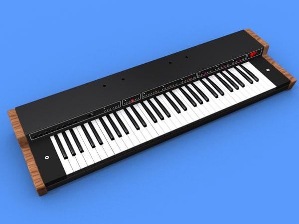 3d model vermona piano-strings piano string
