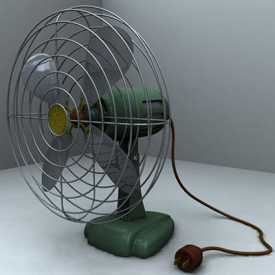 c4d vintage fan era