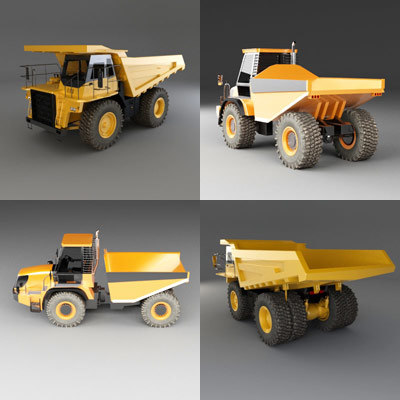 3d model large dump truck