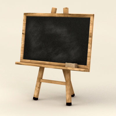 blackboard board 3d model