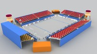 3ds max beach handball court