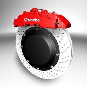 brembo brake 3d c4d