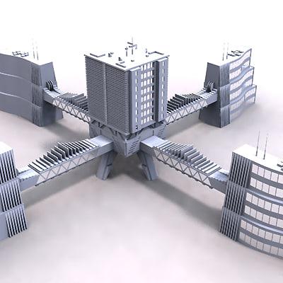 modern building 3d model