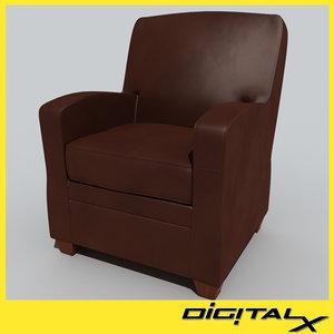 obj reading chair
