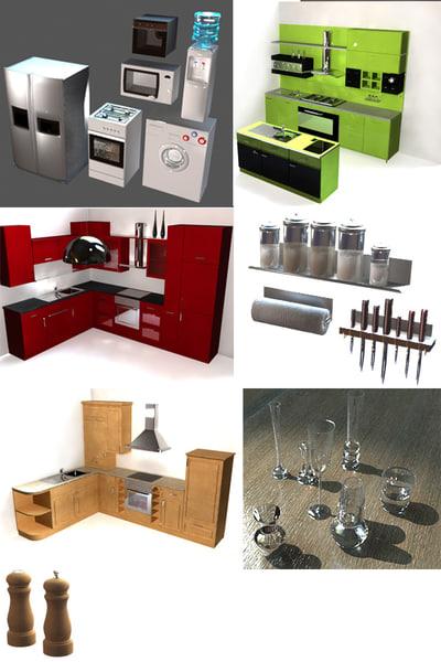3ds max kitchen utensils
