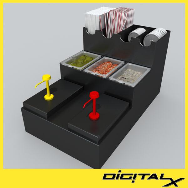 3d model condiment dispenser