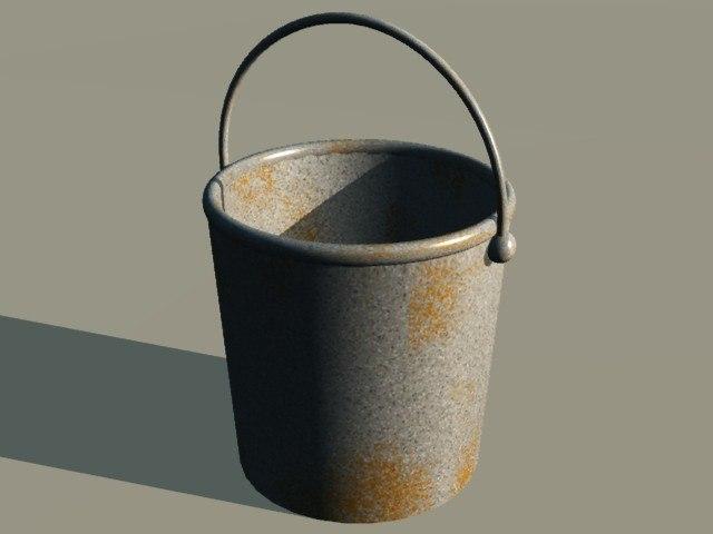 3d milking pail model