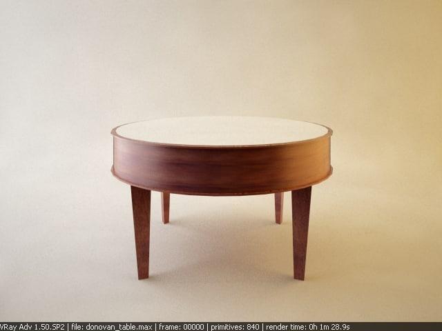 donovan end table 3d model