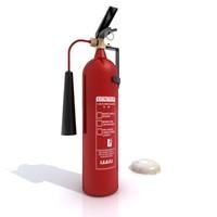 3ds max extinguisher smoke alarm