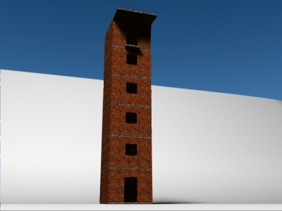 3d model tower drill