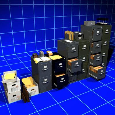 files folders cabinets 01 3d model