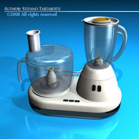 kitchen food processor 3d dxf