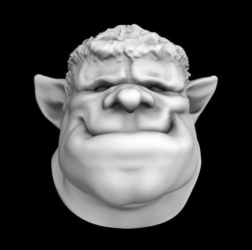 3ds max head gentle orc