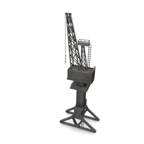 harbor crane 3d max