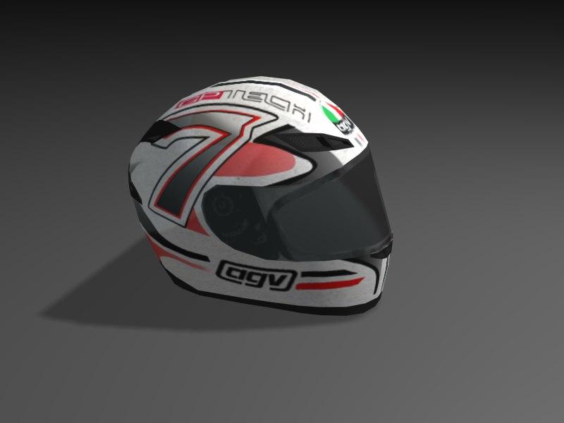 3d model of helmet agv