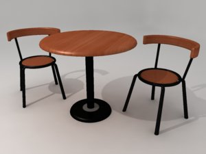 3ds max contemporary table chair set