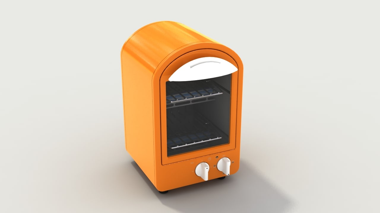 oven toaster retro 3d model