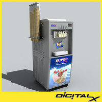 3dsmax ice cream machine