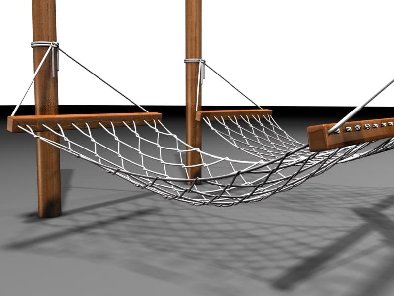 photo realistic hammocks patio 3d model