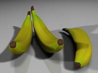 3d max ripe bananas