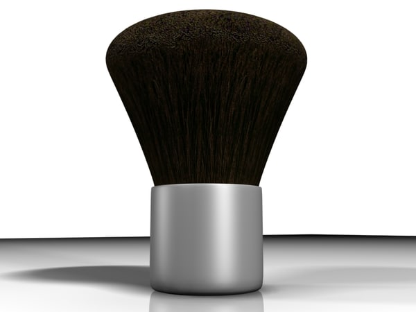 cosmetic blush powder brush 3d model