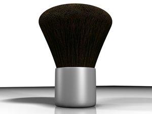 cosmetic blush powder brush 3d model