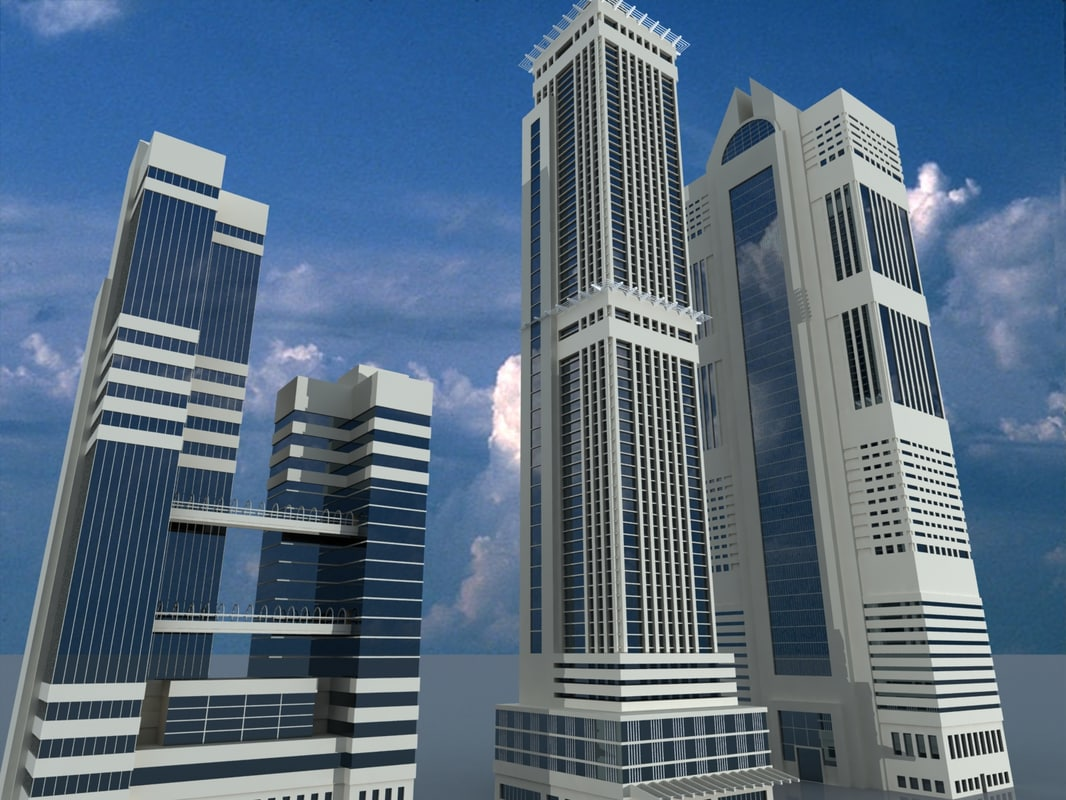3d model buildings skyscraper