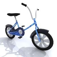 3d model kids bike