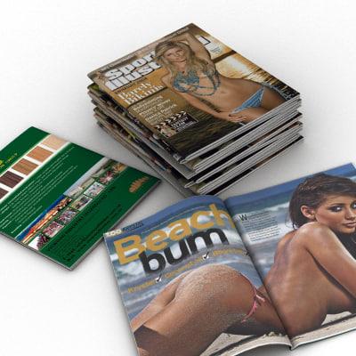 magazine interior stack 3d 3ds