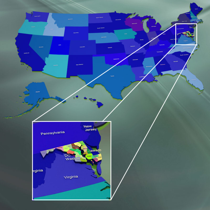 usa counties 3d 3ds