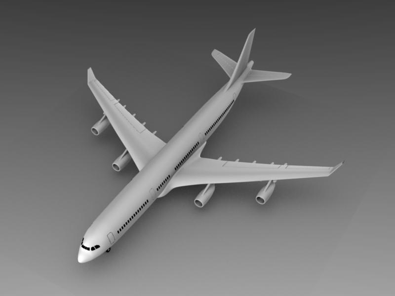 3d model airbus 340 300
