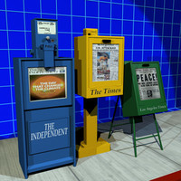 3d newspaper boxes 01 papers