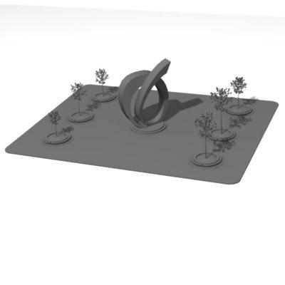 park statue 3d 3ds