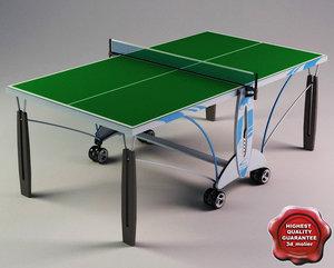 3d ping-pong table ketler