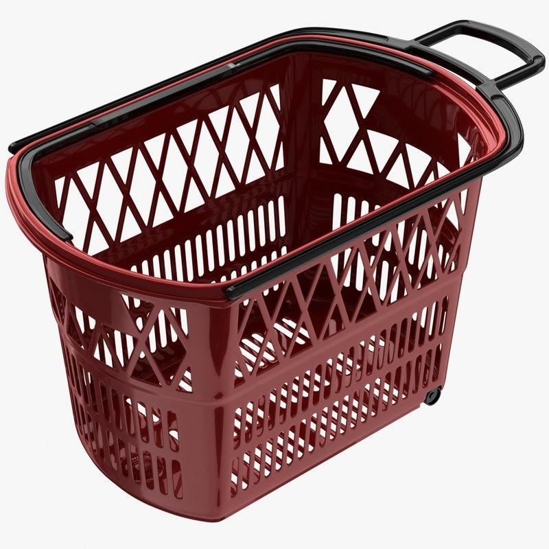 supermarket basket 3d max