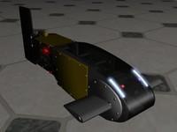 animate robot fish 3d model