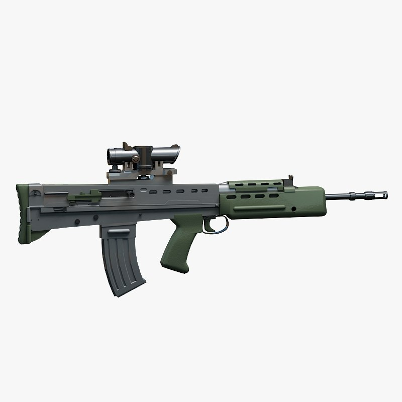 british assault rifle 3d max