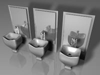 salon sink mirrors 3ds