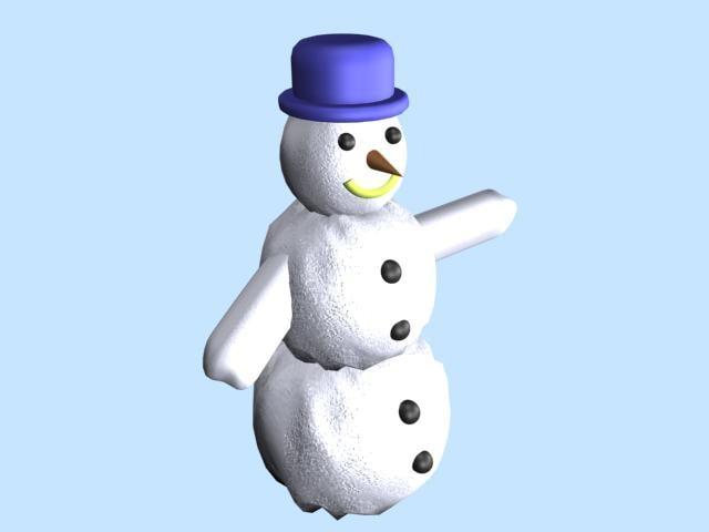 3ds max snow snowman